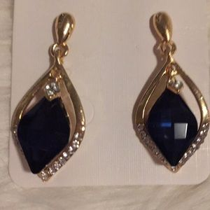Jewelry - Boutique Blue Crystal Earrings